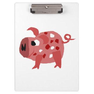 Art rose drôle d'original de porc