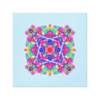 Art rose et pourpre de mouvement de mandala de toiles
