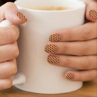 Art rouge 3D et jaune Stickers D'ongles