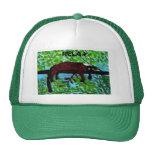 Art rouge animal de lémur d'amusement casquette