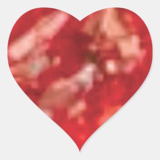 art rouge de gelée sticker cœur