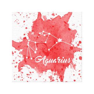 Art rouge de mur de Verseau Toile