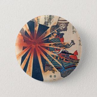 Art samouraï japonais frais de boursouflage Sun de Badge