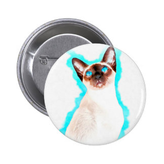 Art siamois de CatWatercolor Badge