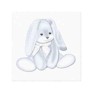 Art souple de toile de bébé de lapin de peluche de toile tendue
