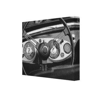 Art sterling vintage de peinture de toile de roue toiles