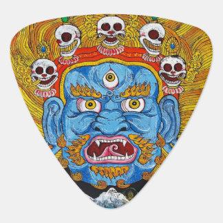 Art tibétain frais de tatouage de mandala d'un onglet de guitare