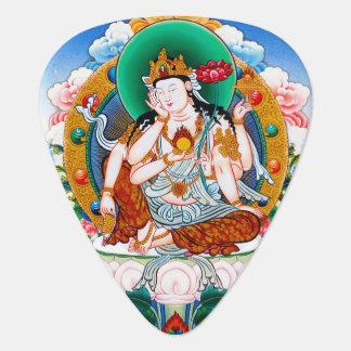 Art tibétain frais de tatouage d'un dieu de thangk onglet de guitare