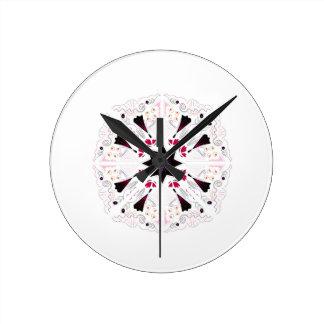Art tiré par la main arabe horloge ronde
