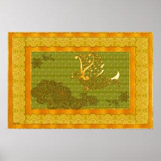 Art traditionnel de Mehdni d'Indien Poster