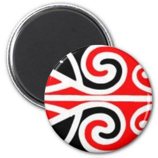 art tribal de conceptions maories pour vous magnet rond 8 cm