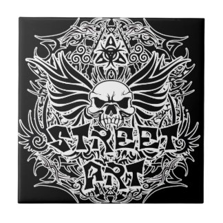 Art tribal de rue de tatouage carreau