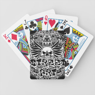 Art tribal de rue de tatouage jeu de cartes