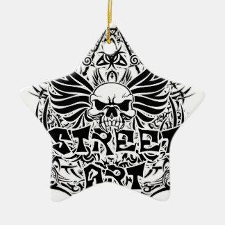 Art tribal de rue de tatouage ornement étoile en céramique