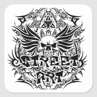 Art tribal de rue de tatouage sticker carré