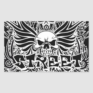 Art tribal de rue de tatouage sticker rectangulaire
