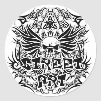 Art tribal de rue de tatouage sticker rond
