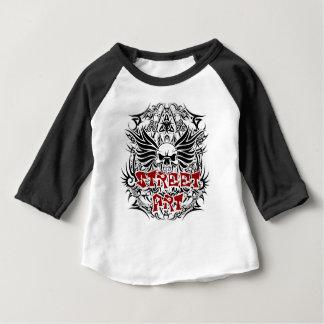 Art tribal de rue de tatouage t-shirt pour bébé