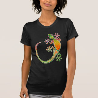 Art tribal floral de Gecko T-shirt