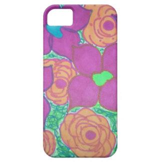 Art tropical coloré de motif de fleur iPhone 5 case