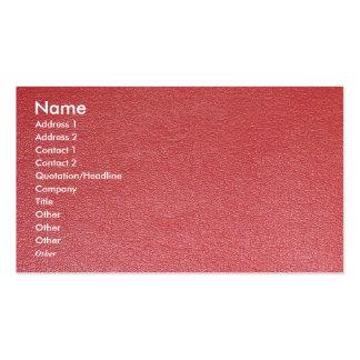 Art unique simili cuir bronzage de nuances de carte de visite standard