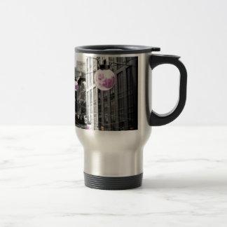 Art urbain de réverbères tasse à café