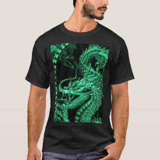 Art vert chinois de dragon d'empereur t-shirt