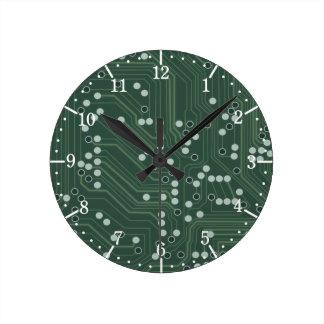 Art vert de motif d'arrière - plan de carte horloge ronde