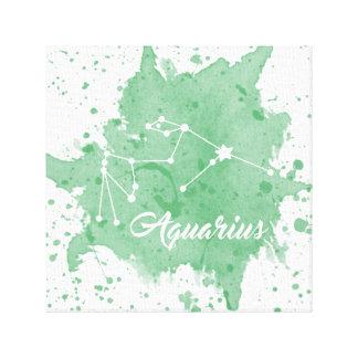 Art vert de mur de Verseau Toile