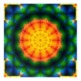 Art vibrant de mandala des couleurs |