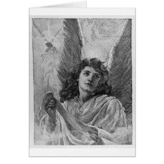 Art victorien de Noël d'ange vintage Cartes De Vœux