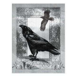 Art victorien gothique d'imaginaire de Raven Carte Postale