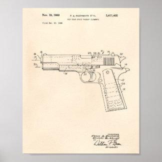Art vieux Peper de brevet de l'espace libre 1968 Posters