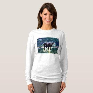 Art vif se sentant de cheval t-shirt
