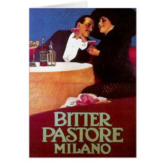 Art vintage amer d'annonce de boissons de vin de carte de vœux