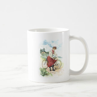 Art vintage/bicyclette démodée - Suisse Mug
