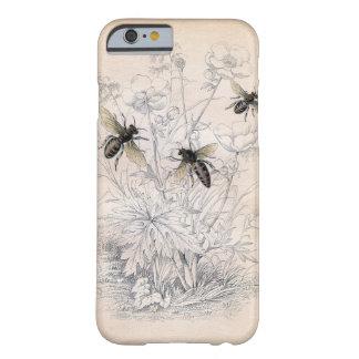 Art vintage d'abeille de miel coque iPhone 6 barely there