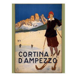 Art vintage d'affiche de voyage de Cortina Cartes Postales