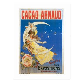Art vintage d'annonce de boissons de chocolat carte postale