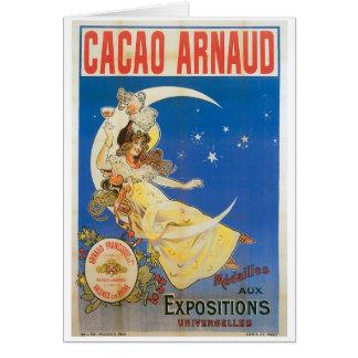 Art vintage d'annonce de boissons de chocolat cartes