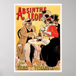 Art vintage d'annonce de boissons de vin de Léon Posters