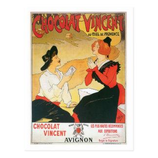 Art vintage d'annonce de nourriture de Chocolat Carte Postale