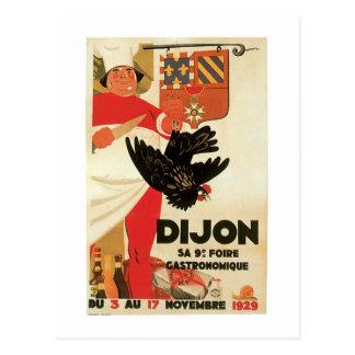 Art vintage d'annonce de nourriture de poulet de cartes postales