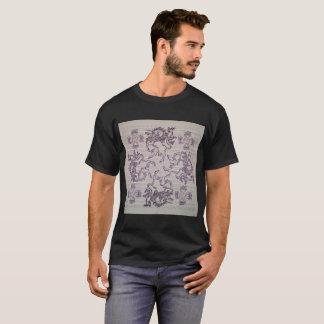 Art vintage de buvard de licornes sur le T-shirt