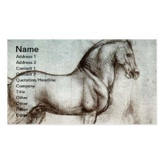 Art vintage de cheval modèles de cartes de visite