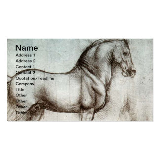 Art vintage de cheval carte de visite standard