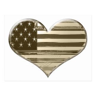 Art vintage de drapeau de coeur des Etats-Unis de Carte Postale