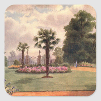 Art vintage de jardin - Martin faucheur de Thomas Stickers Carrés