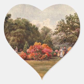 Art vintage de jardin - Martin, faucheur de Thomas Sticker Cœur