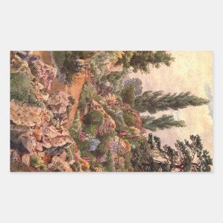 Art vintage de jardin - Martin, faucheur de Thomas Sticker Rectangulaire